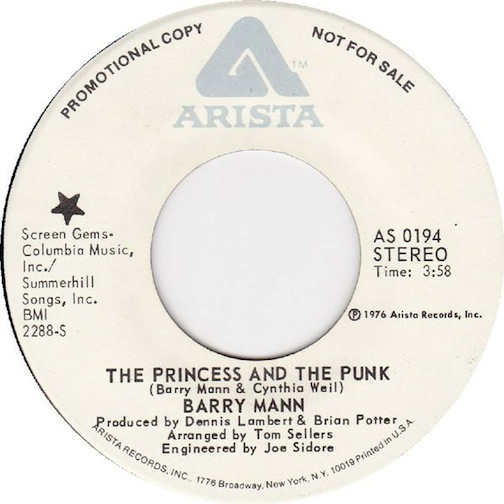Mann, Barry - The Princess And The Punk