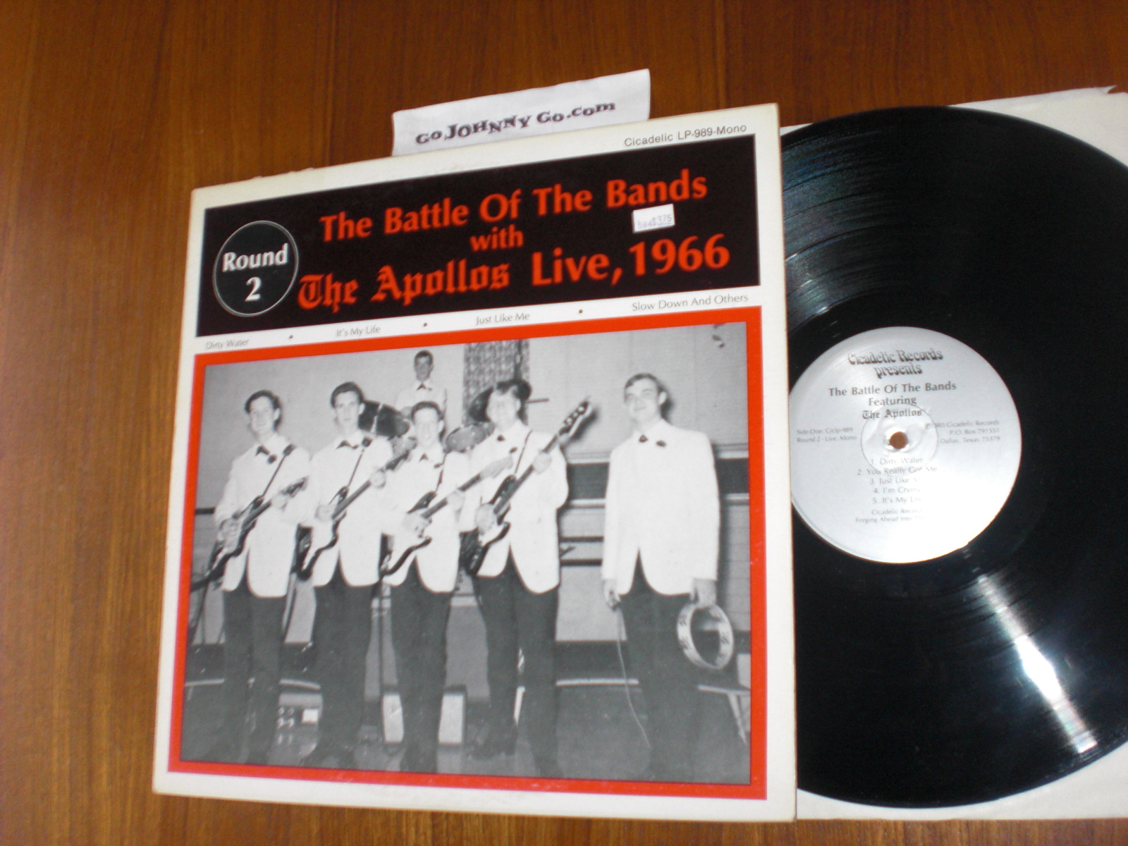 APOLLOS - Battle of the Bands with The Apollos Live, 1966 - 33T